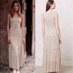 Meadow rue polkadots floral lace maxi dress